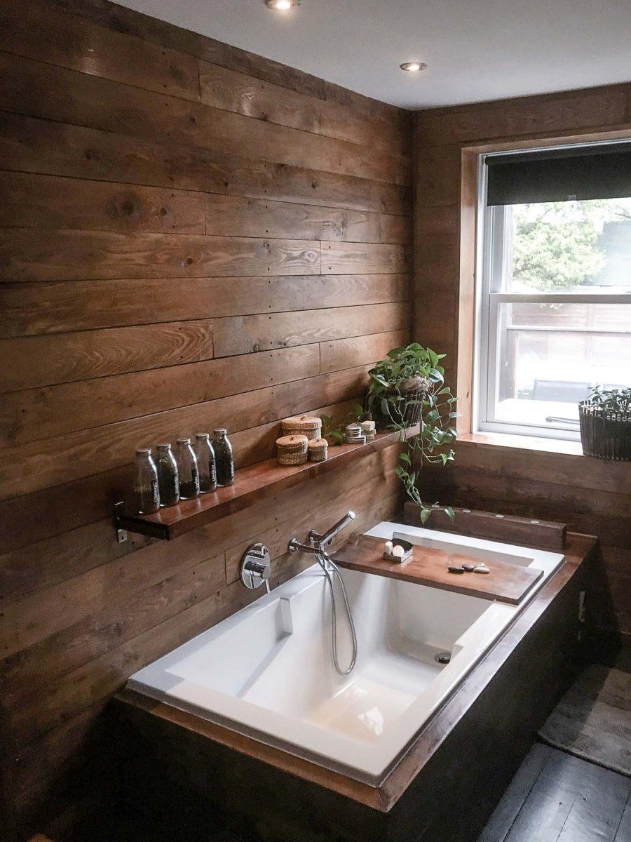 Bleu Bois projet Salle de bain