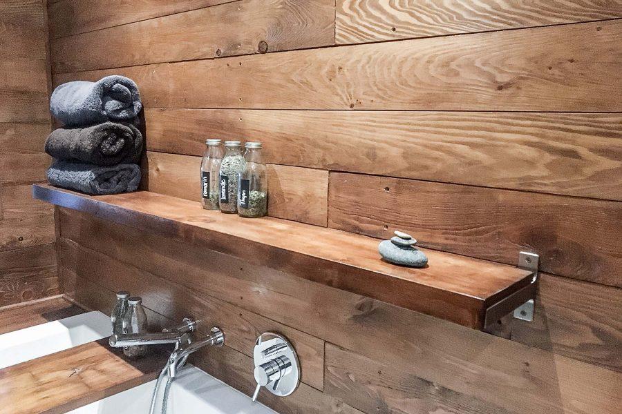 Bleu Bois Tablette salle de bain
